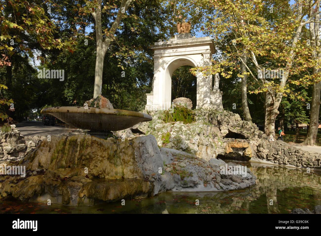 Fontane Brunnen.Brunnen Fontane Del Fiocco Park Villa Borghese Rom