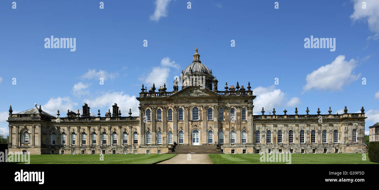 Castle Howard, a historic stately home near Malton in North Yorkshire, England, UK - Stock Image