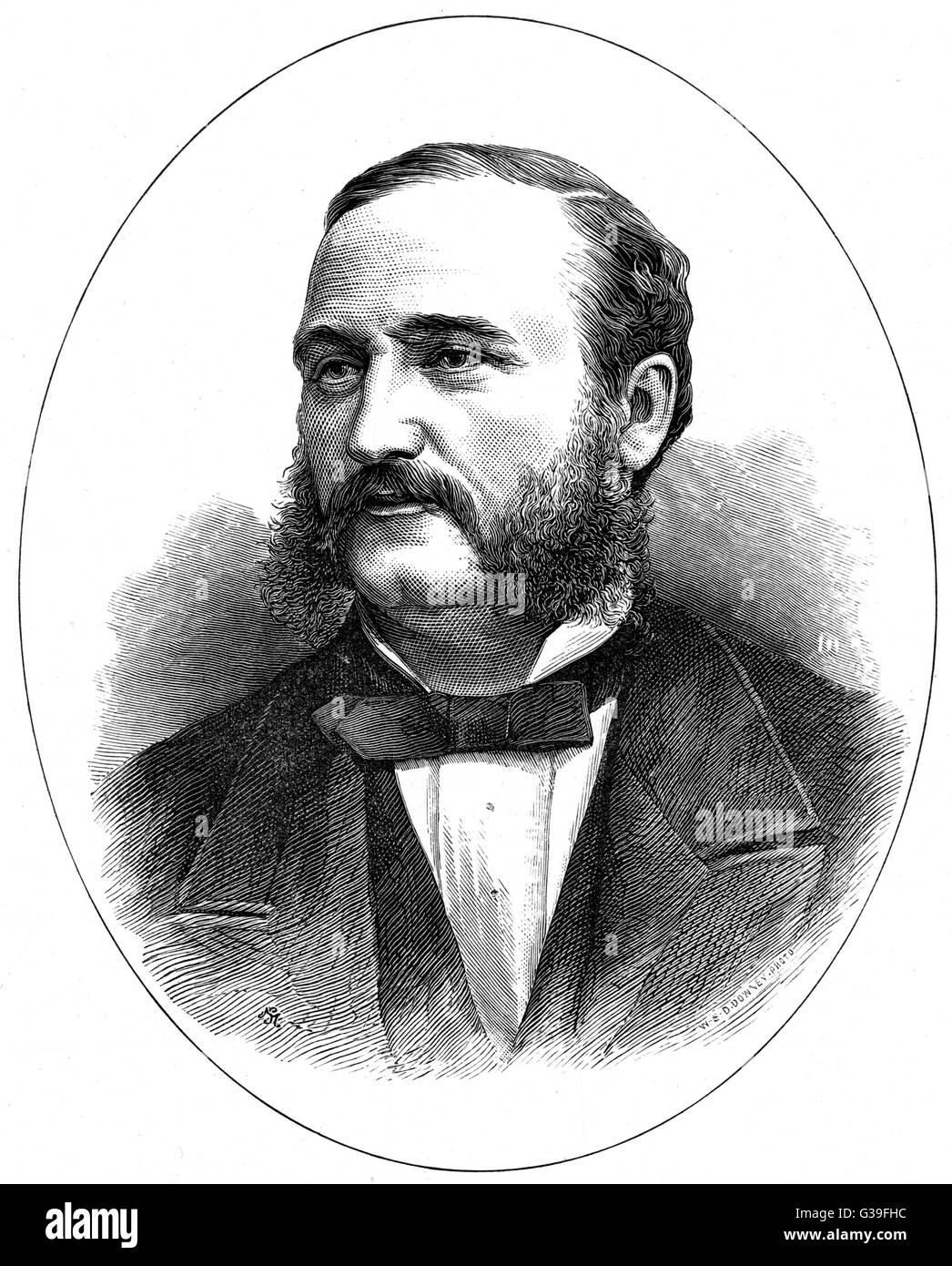 IRA DAVID SANKEY  the American evangelist        Date: 1840 - 1908 - Stock Image