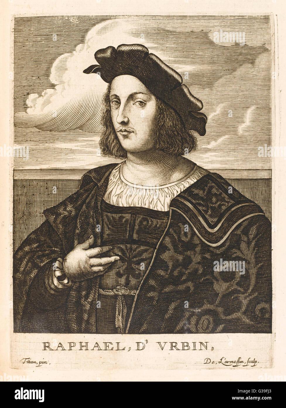 RAFFAELLO SANZIO Italian artist Date: 1483 - 1520 - Stock Image