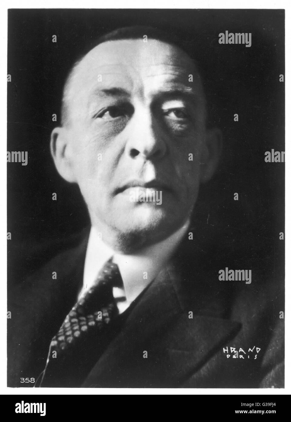 SERGEI RACHMANINOV  Russian musician        Date: 1873 - 1943 - Stock Image
