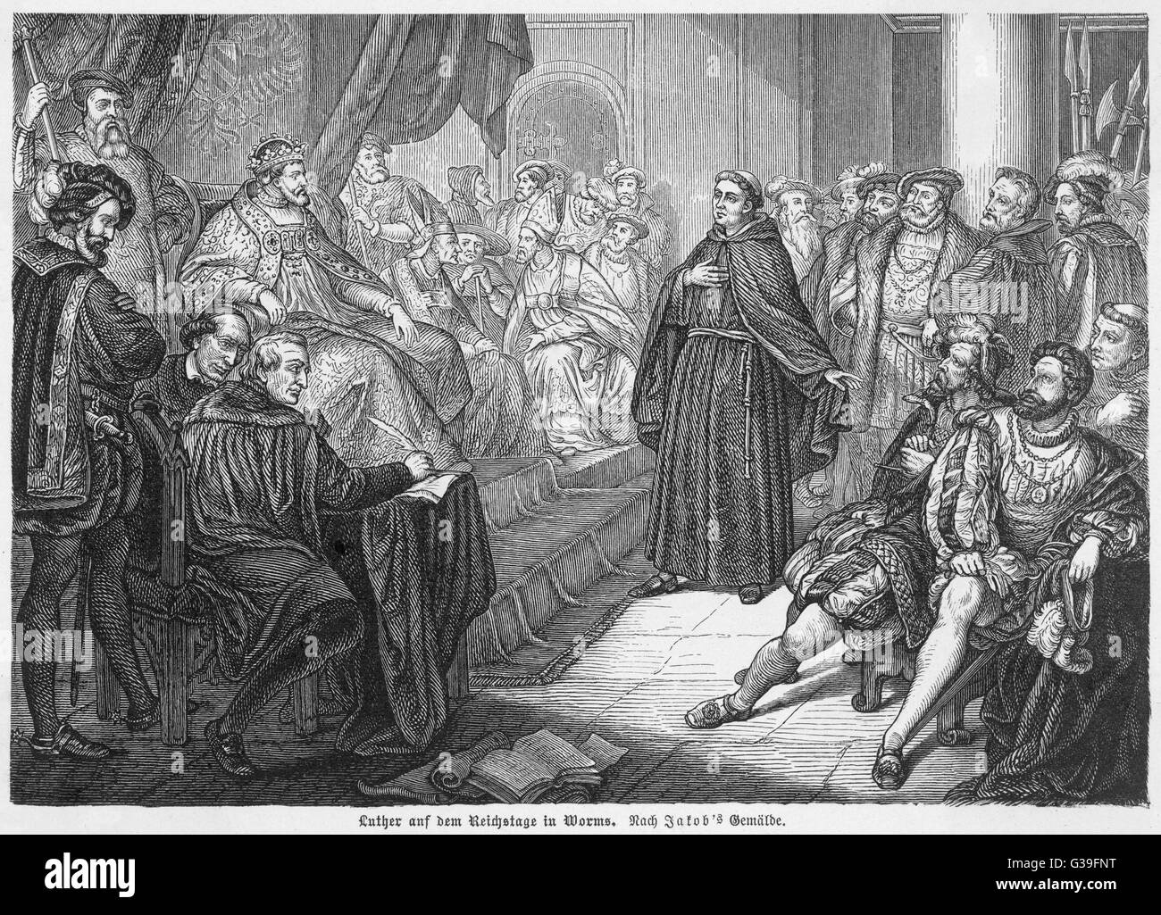 martin luther at the diet of worms he defends his opinions before