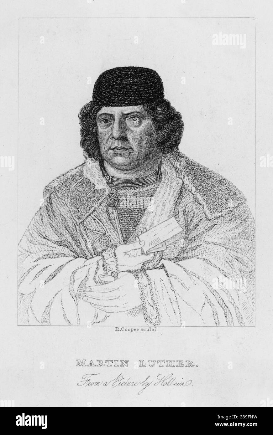 MARTIN LUTHER  German church reformer        Date: 1483 - 1546 - Stock Image