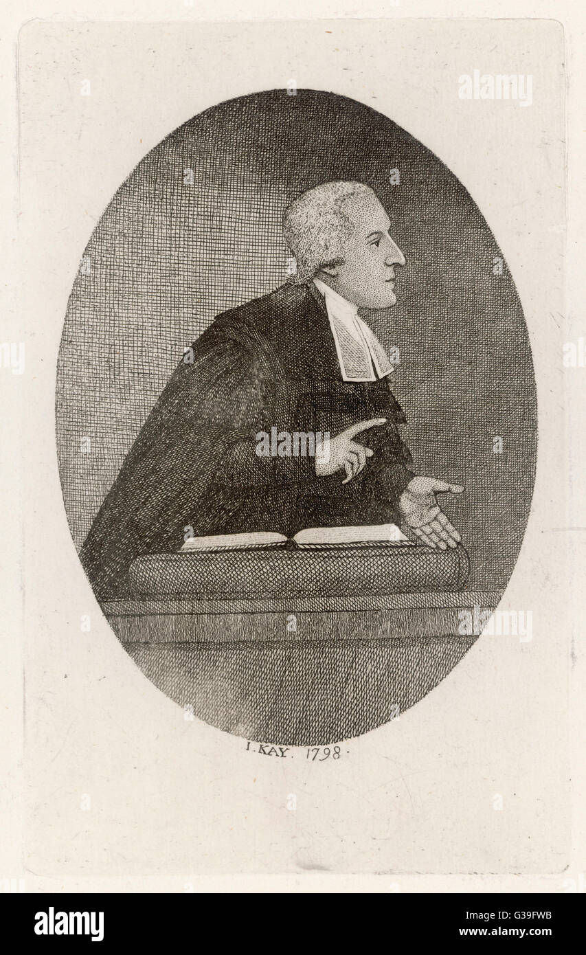 CHARLES SIMEON  Divine and author        Date: 1759 - 1836 - Stock Image