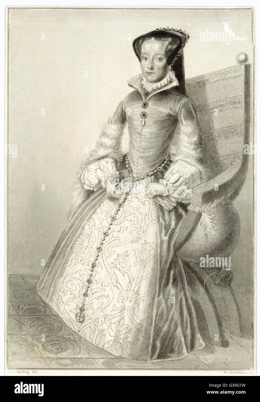 MARY TUDOR  Queen of England        Date: 1516 - 1558 - Stock Image