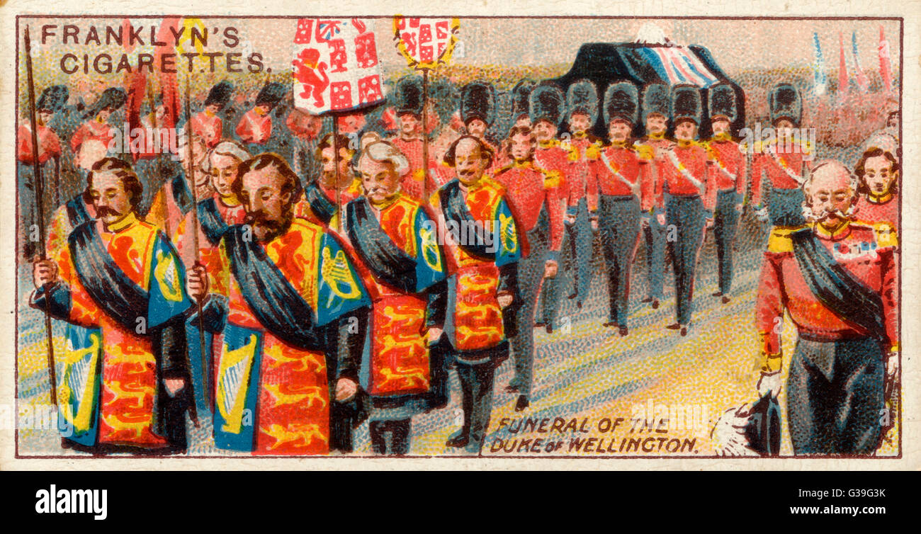 The Duke of Wellington is  given a state funeral of  unsurpassed magnificence        Date: 18 November 1852 - Stock Image