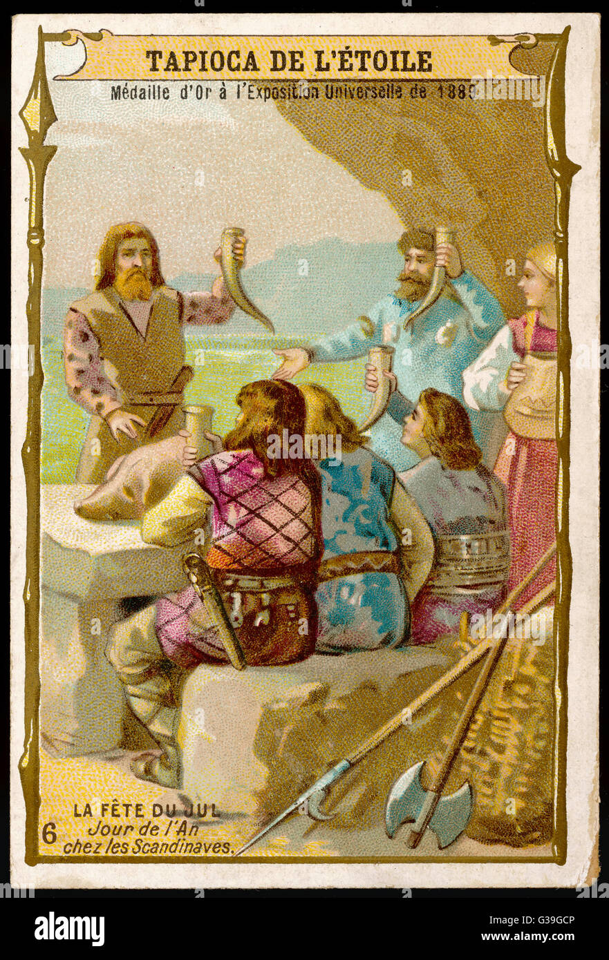 ANCIENT SCANDINAVIA For the Scandinavians, any  special occasion is an excuse  for drinking, and the New  Year  - Stock Image