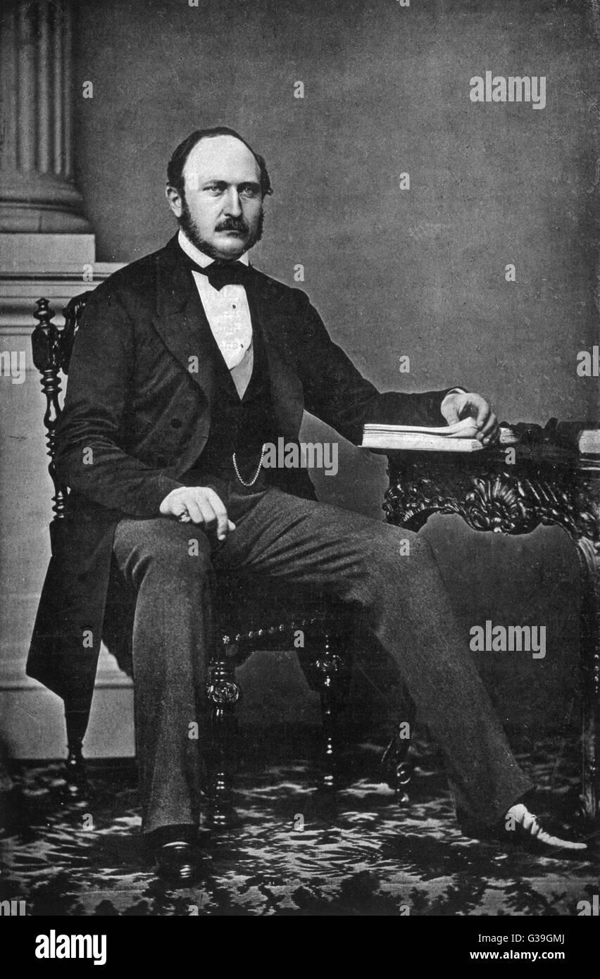 PRINCE ALBERT, CONSORT OF  QUEEN VICTORIA  The last photograph taken of  Prince Albert.      Date: 1819-1861 - Stock Image