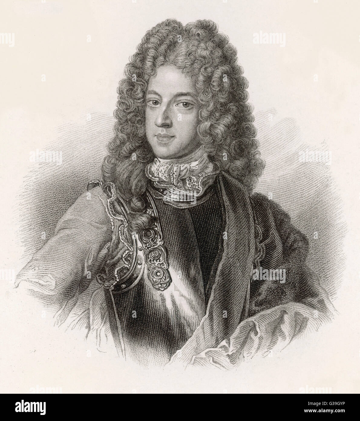 THE OLD PRETENDER James Francis Edward Stuart,  father of Charles Edward Stuart  (The Young Pretender); The Knight - Stock Image