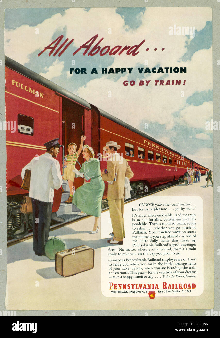 Promoting the PENNSYLVANIA  RAILROAD        Date: 1949 - Stock Image