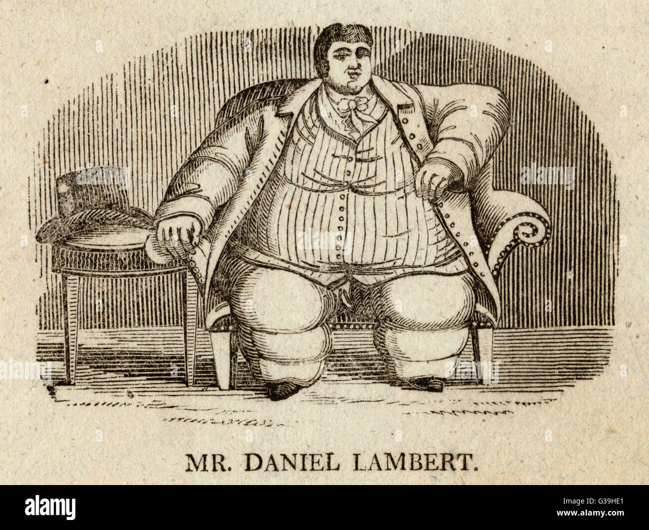 DANIEL LAMBERT fat Englishman        Date: 1770 - 1809 - Stock Image