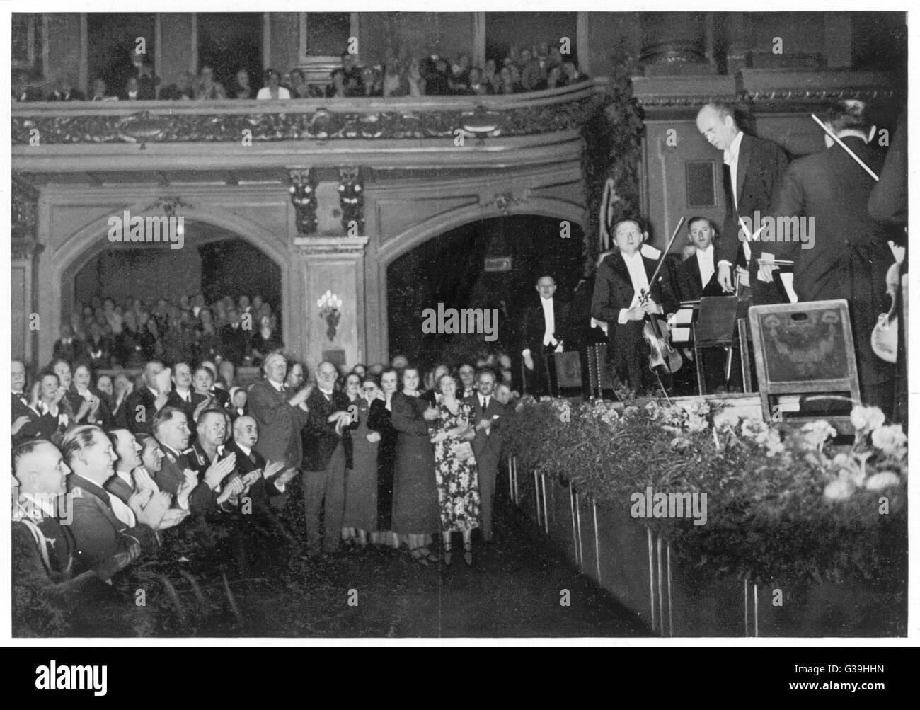 WILHELM FURTWANGLER  (1886 - 1954) German conductor performing with the Berlin Philharmonic Orchestra for Hitler - Stock Image