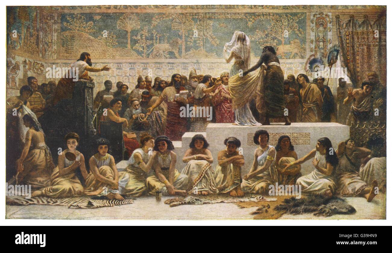 The Babylonian marriage market         Date: BC - Stock Image