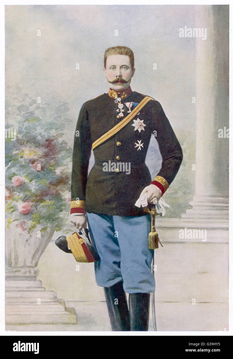 ARCHDUKE FRANZ FERDINAND  Heir to the Austrian empire,  nephew of Franz Joseph,  assassinated in 1914      Date: - Stock Image