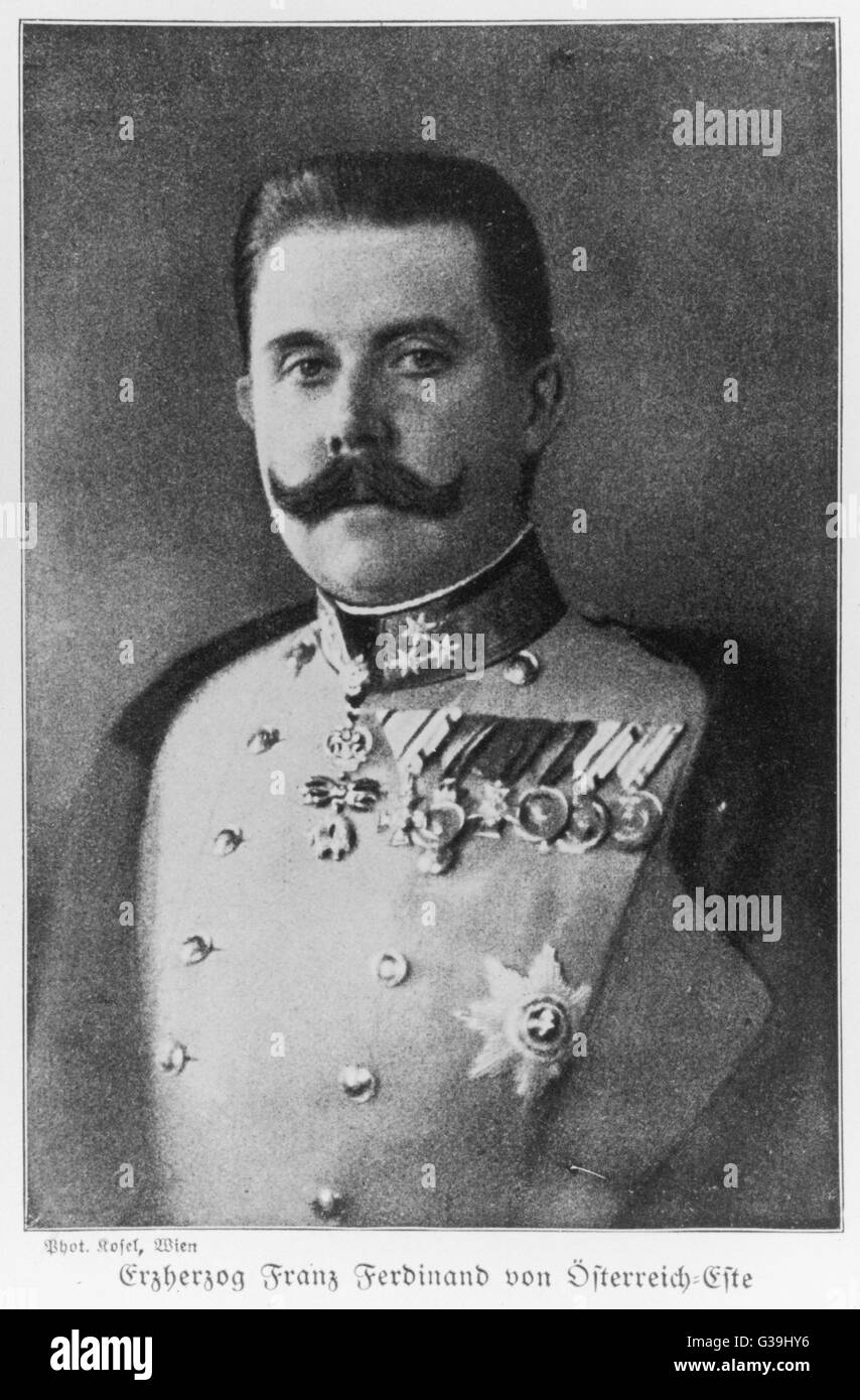 ARCHDUKE FRANZ FERDINAND  Heir to the Austrian empire,  son of Archduke Karl Ludwig, assassinated in 1914      Date: - Stock Image