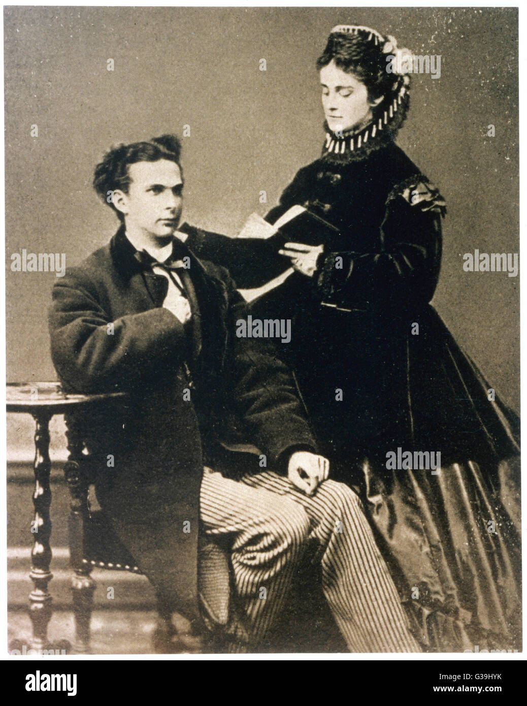 KING LUDWIG II OF BAVARIA AND PRINCESS SOPHIE CHARLOTTE  Seen during their engagement:  the marriage was cancelled - Stock Image