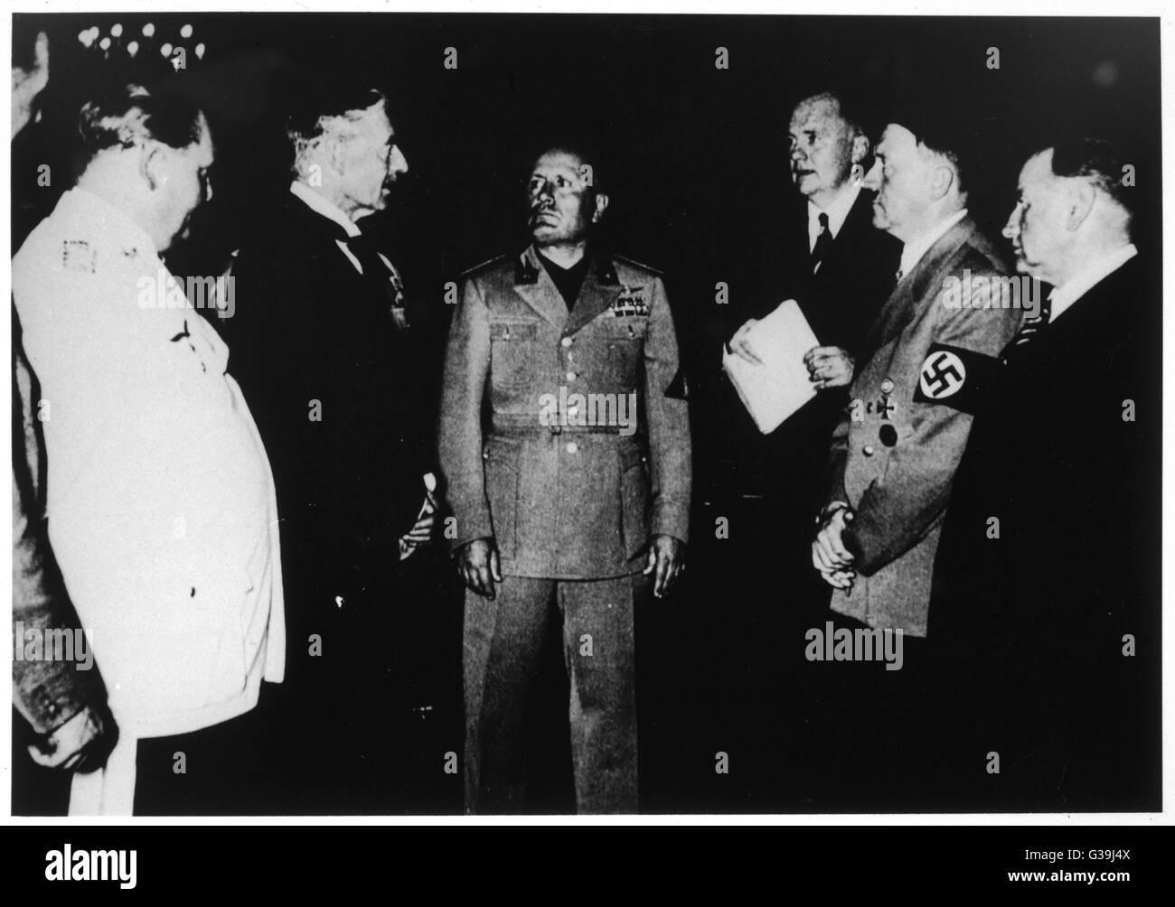 Munich Agreement Hitler 1938 Stock Photos Munich Agreement Hitler