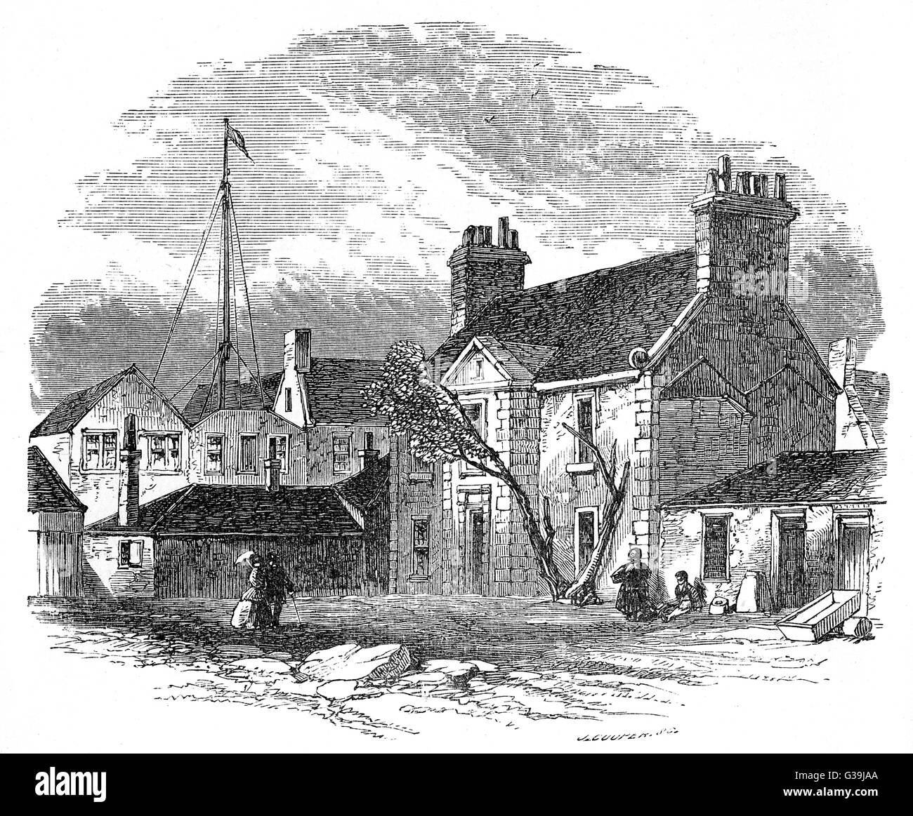 JAMES WATT  His home in Delftfield lane,  Glasgow, to which he moved in  1764, anticipating his  marriage.     Date: - Stock Image
