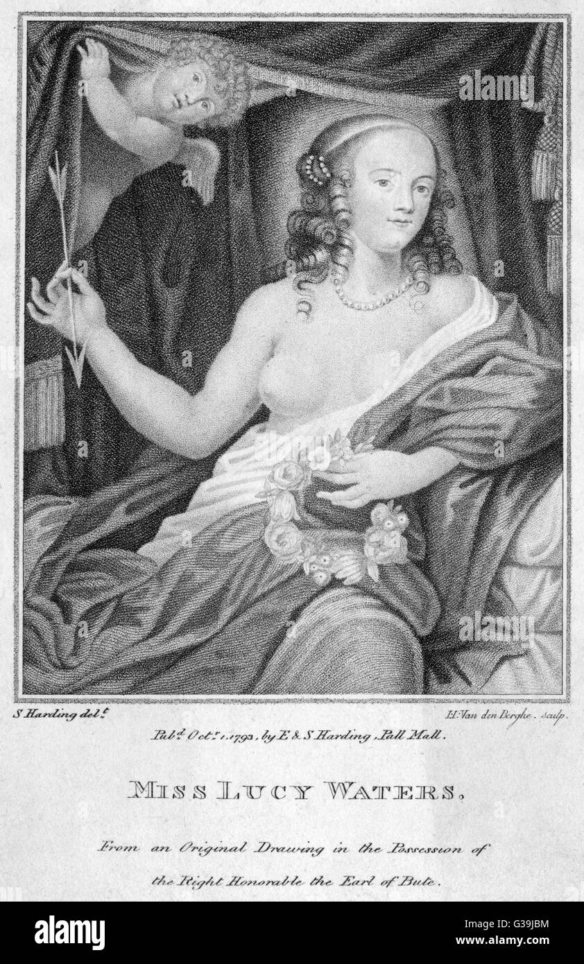 LUCY WALTER  Mistress of Charles II, and by  him mother of James, Duke of  Monmouth.      Date: 1630 - 1658 - Stock Image