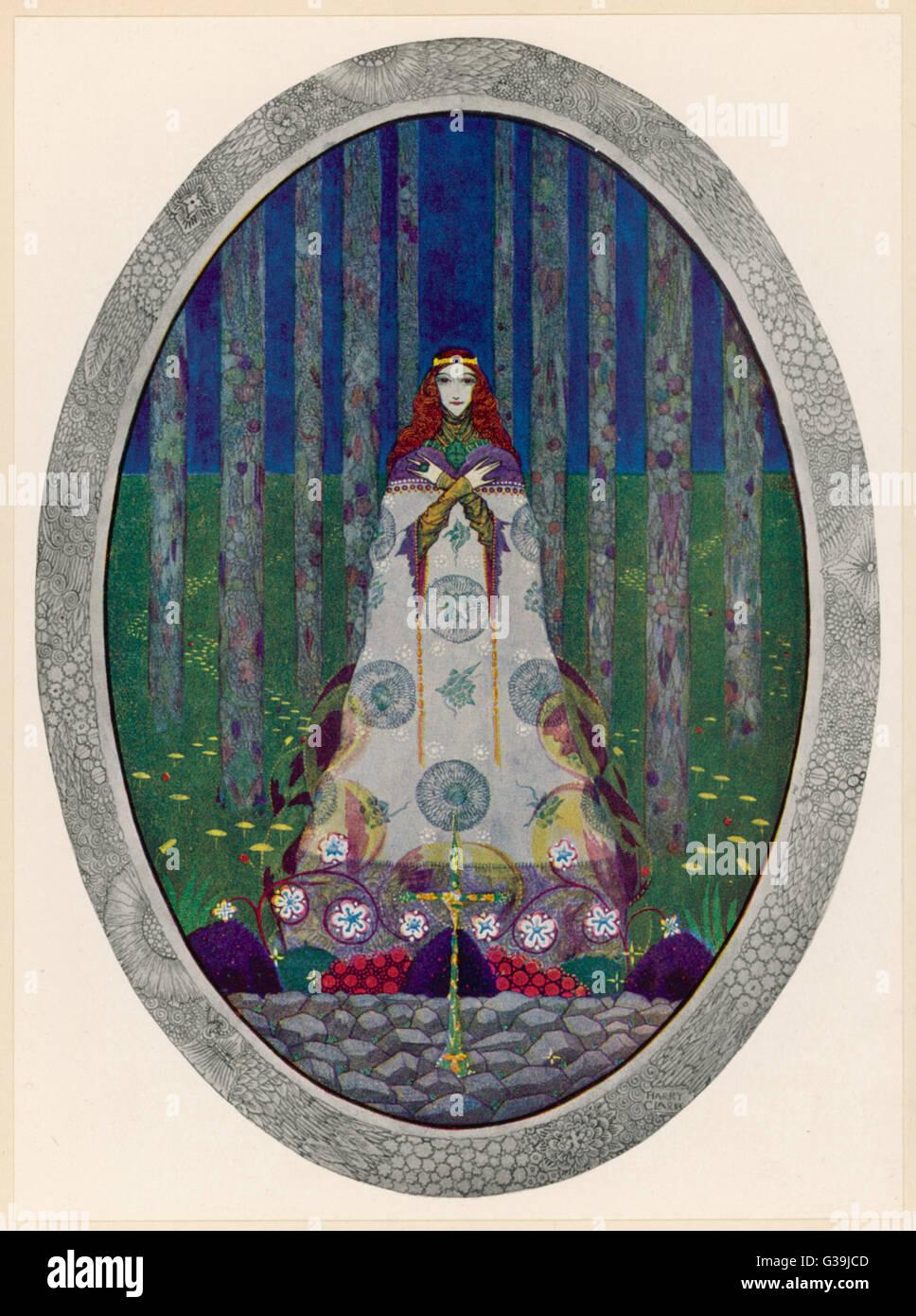 Illustration Of The Marsh Kings Daughter In An Oval Frame