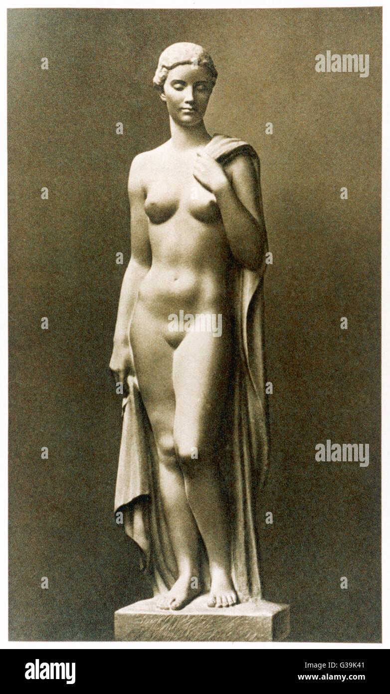 Ideal Aryan Woman Bather Sculpture Stock...