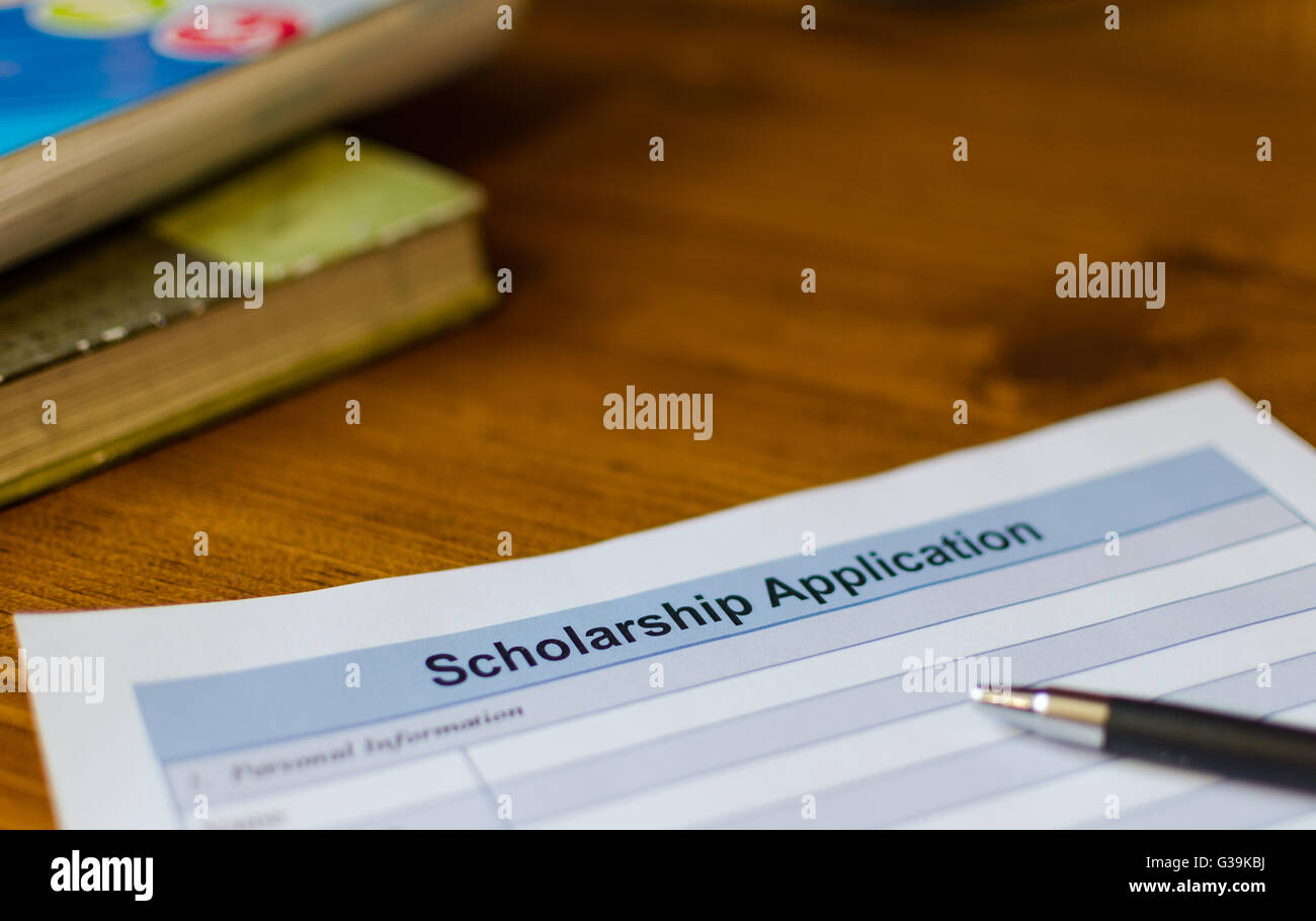 Scholarship application - Stock Image