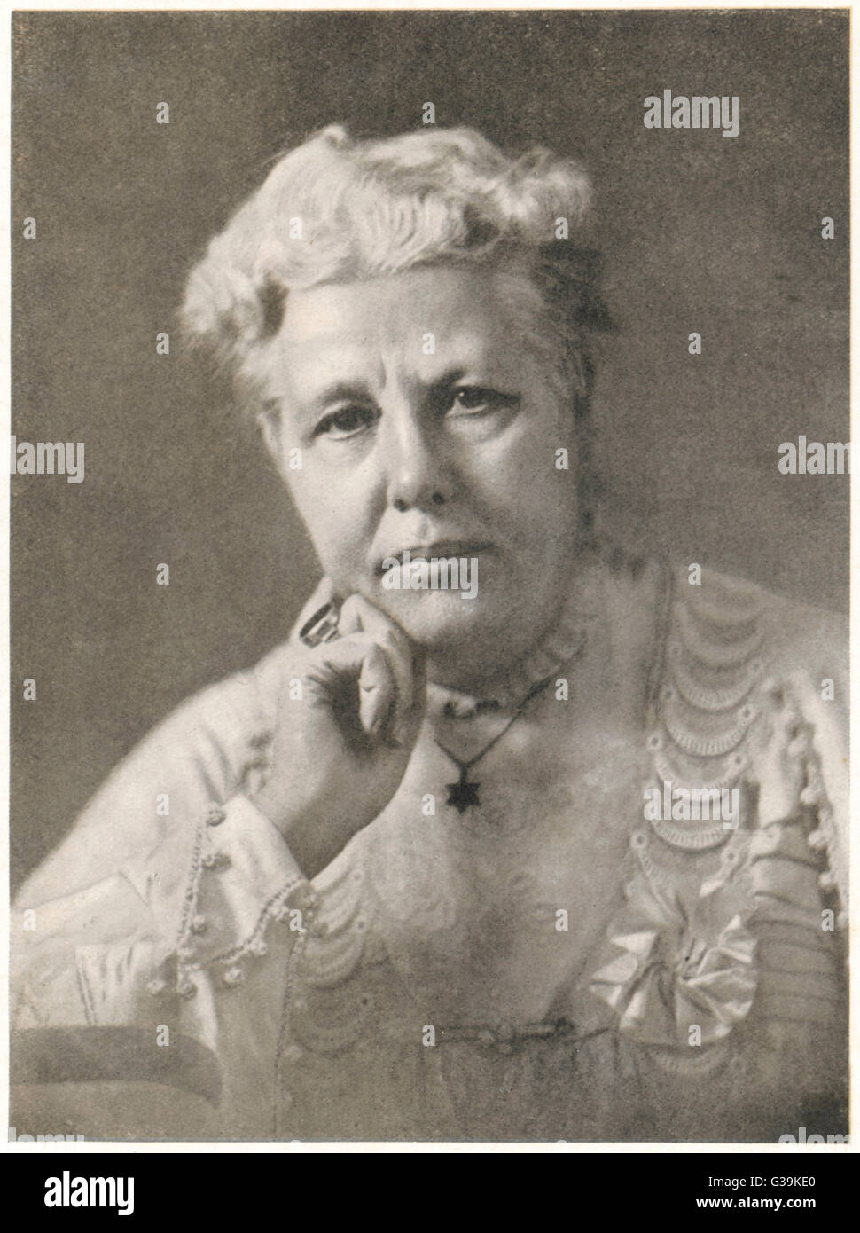 ANNIE BESANT  English theosophist and  Indian political leader       Date: 1847 - 1933 Stock Photo