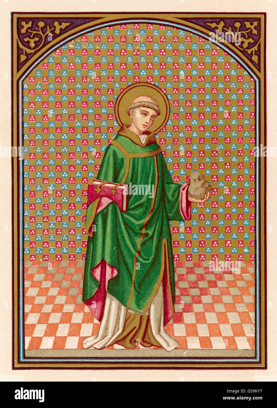 STEPHEN THE DEACON          Date: ? - circa 35 - Stock Image