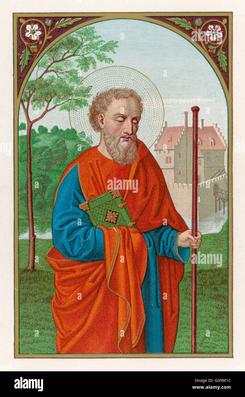 BARNABAS, APOSTLE an active early promoter of  the Christian faith,  supporting Paul though  sometimes disagreeing Stock Photo