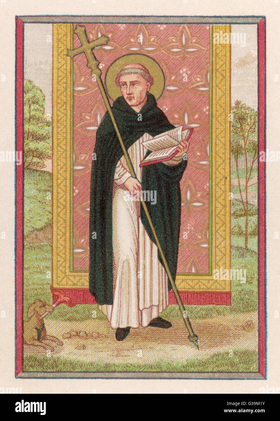 SAINT DOMINIC preacher, founder of the order  named after him, a relentless  opponent of heresy, especially  that - Stock Image