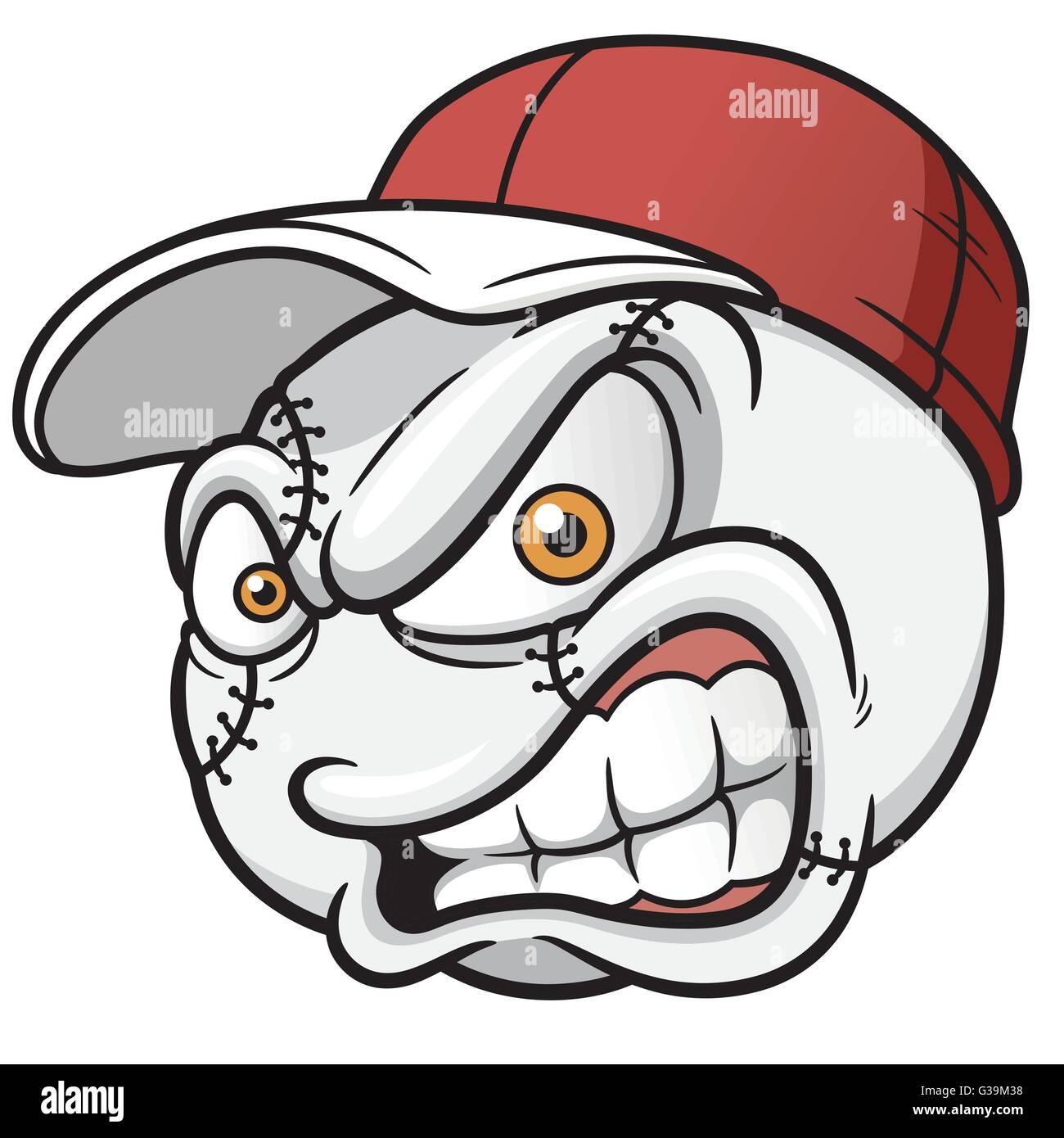 vector illustration of baseball cartoon ball stock vector art