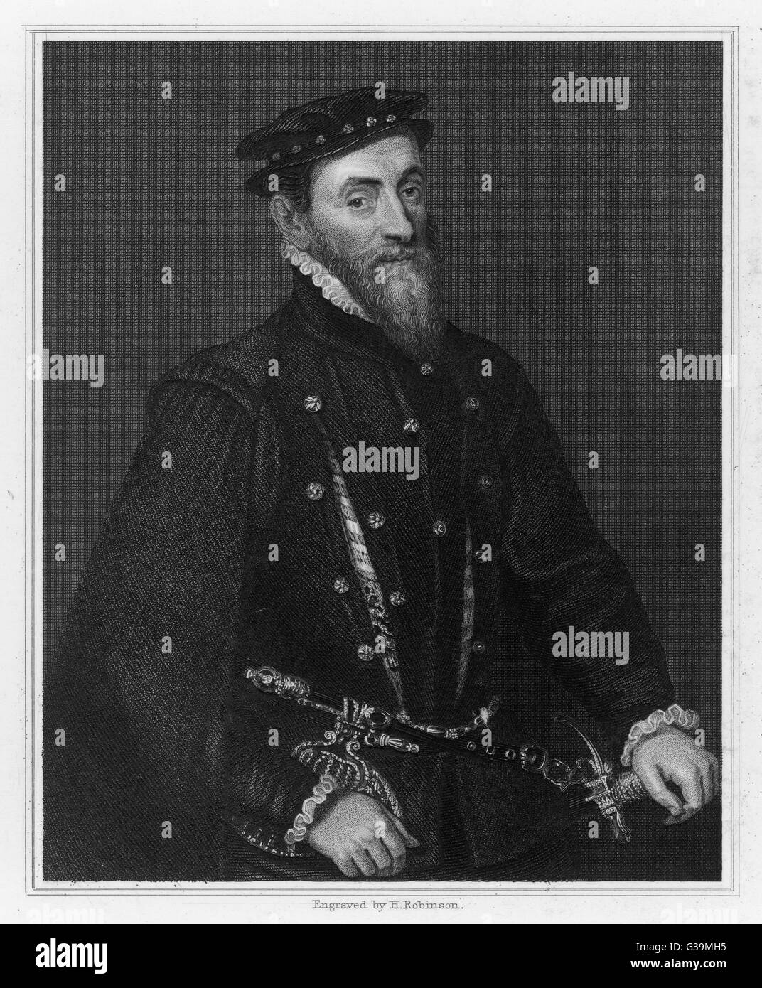 SIR THOMAS GRESHAM  English financier who built  the Royal Exchange and  founded Gresham College       Date: 1519 Stock Photo