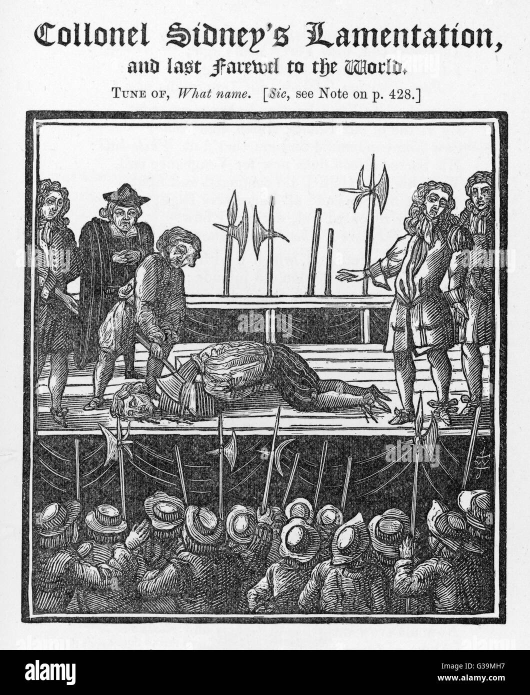 He is beheaded at London on  a charge of conspiracy         Date: December 1683 - Stock Image