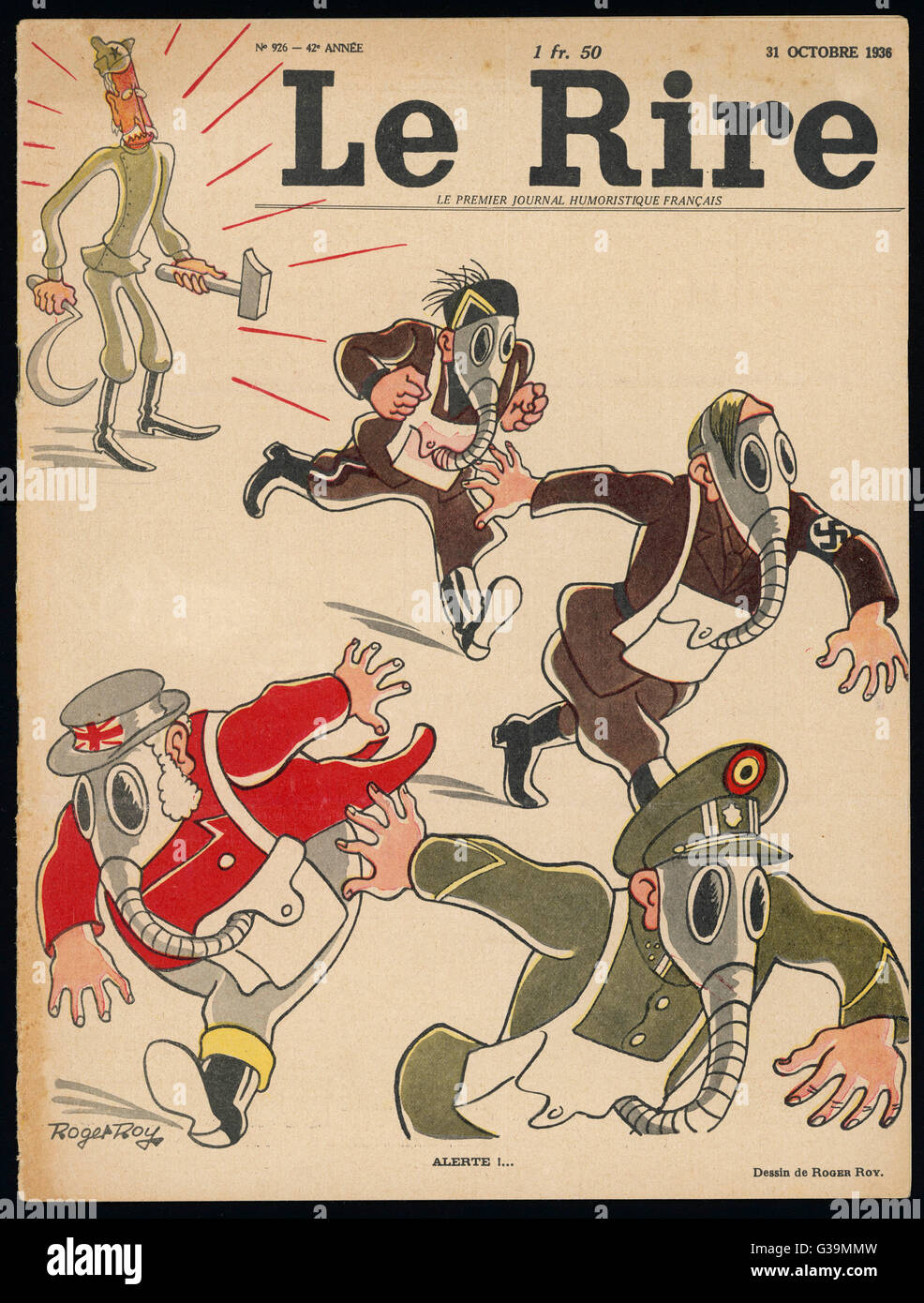 The spectre of Communism  terrifies the rest of  Europe...        Date: 1936 - Stock Image