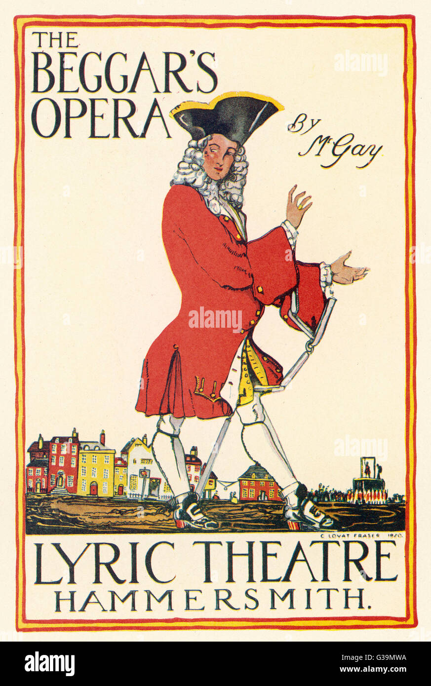 Poster for production at the  Lyric Theatre, Hammersmith  (London)        Date: 1920 - Stock Image