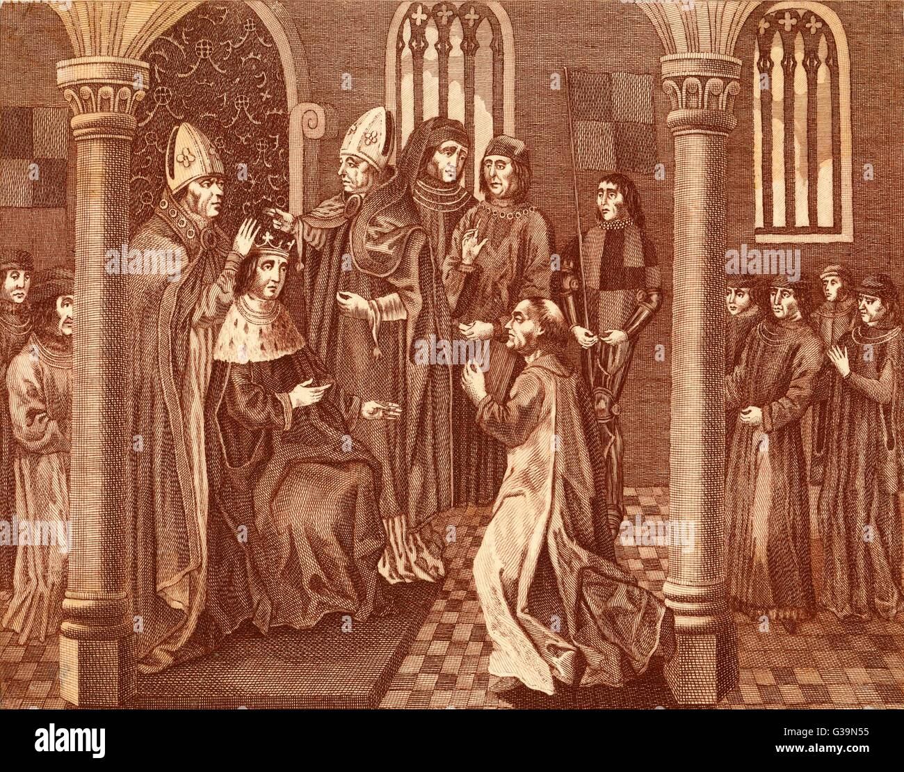Henry of Lancaster is crowned  Henry IV of England         Date: 1399 - Stock Image