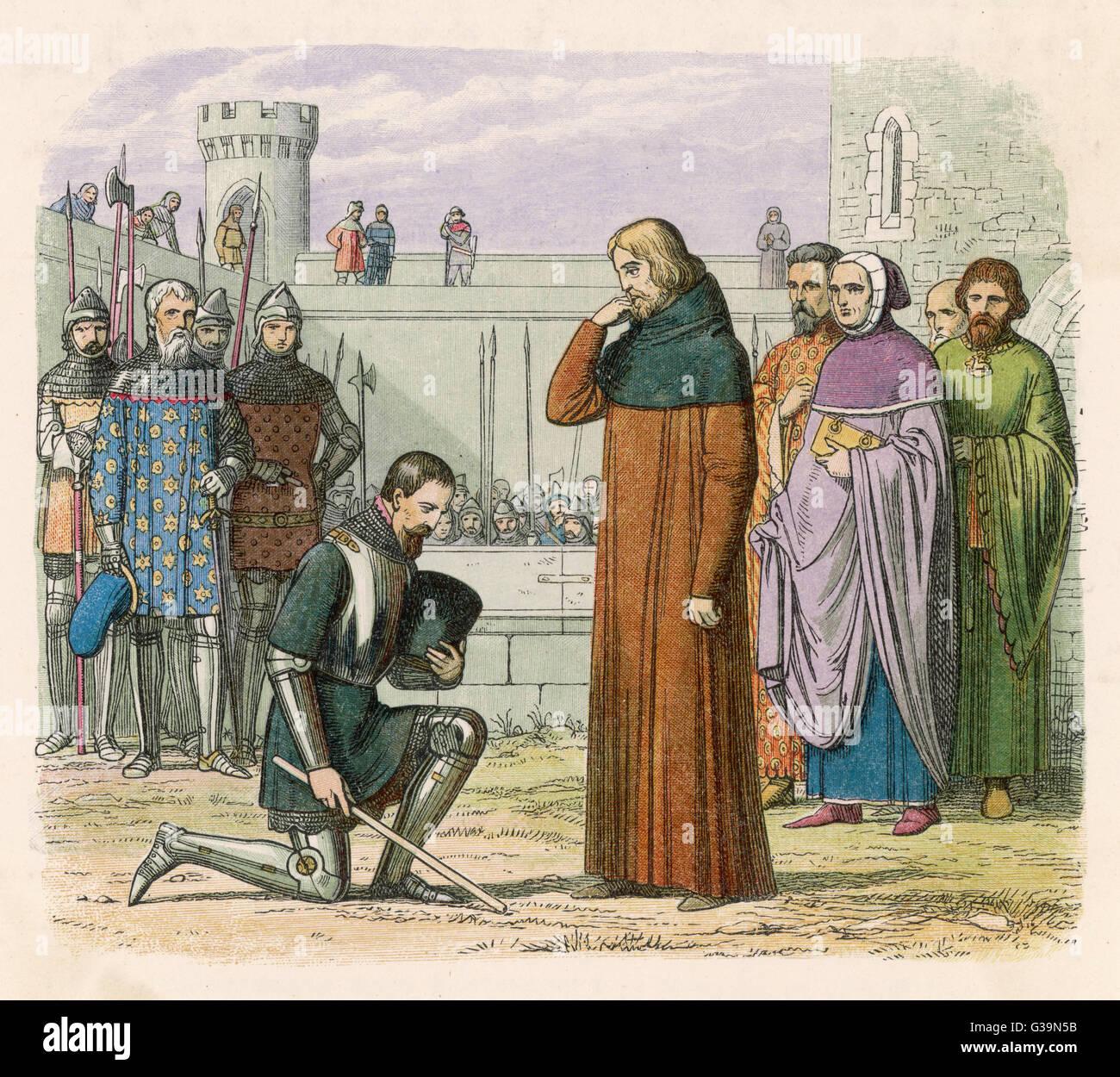Richard II meets Henry IV at  Flint         Date: 1399 - Stock Image
