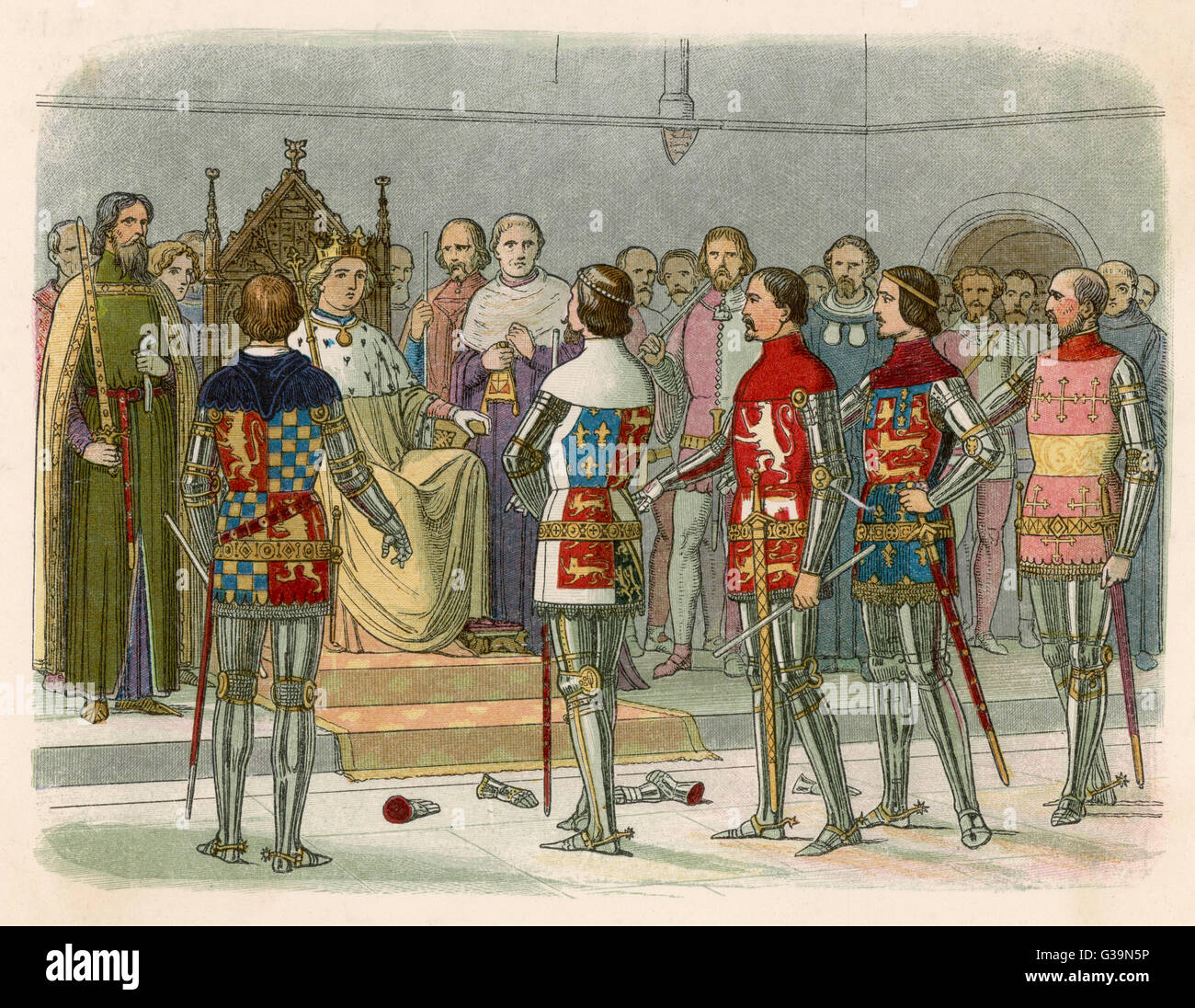Richard II and the Appeal of  Treason         Date: 1387 - Stock Image