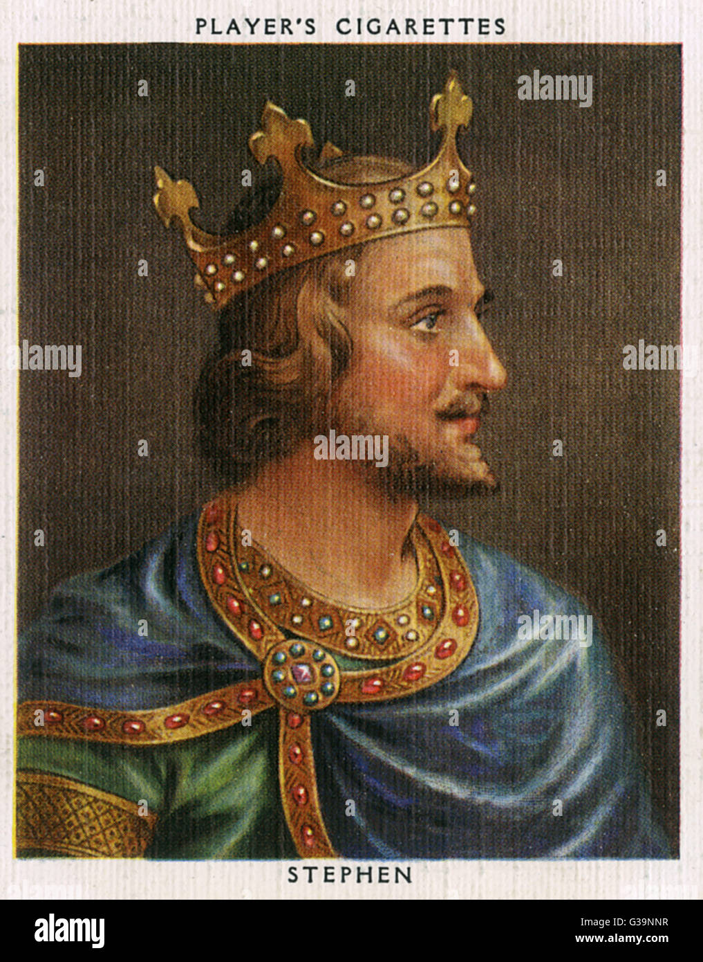 STEPHEN, KING OF ENGLAND  Reigned 1135 - 1154        Date: 1097? - 1154 - Stock Image
