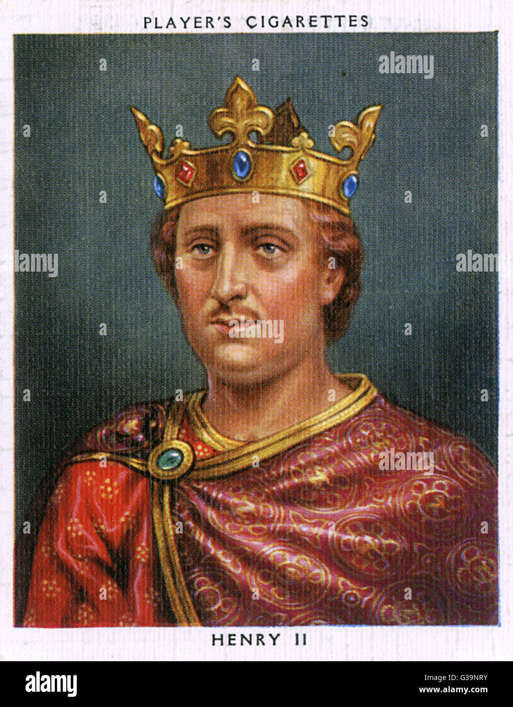 HENRY II (1133 - 1189) Reigned 1154 - 1189 - Stock Image
