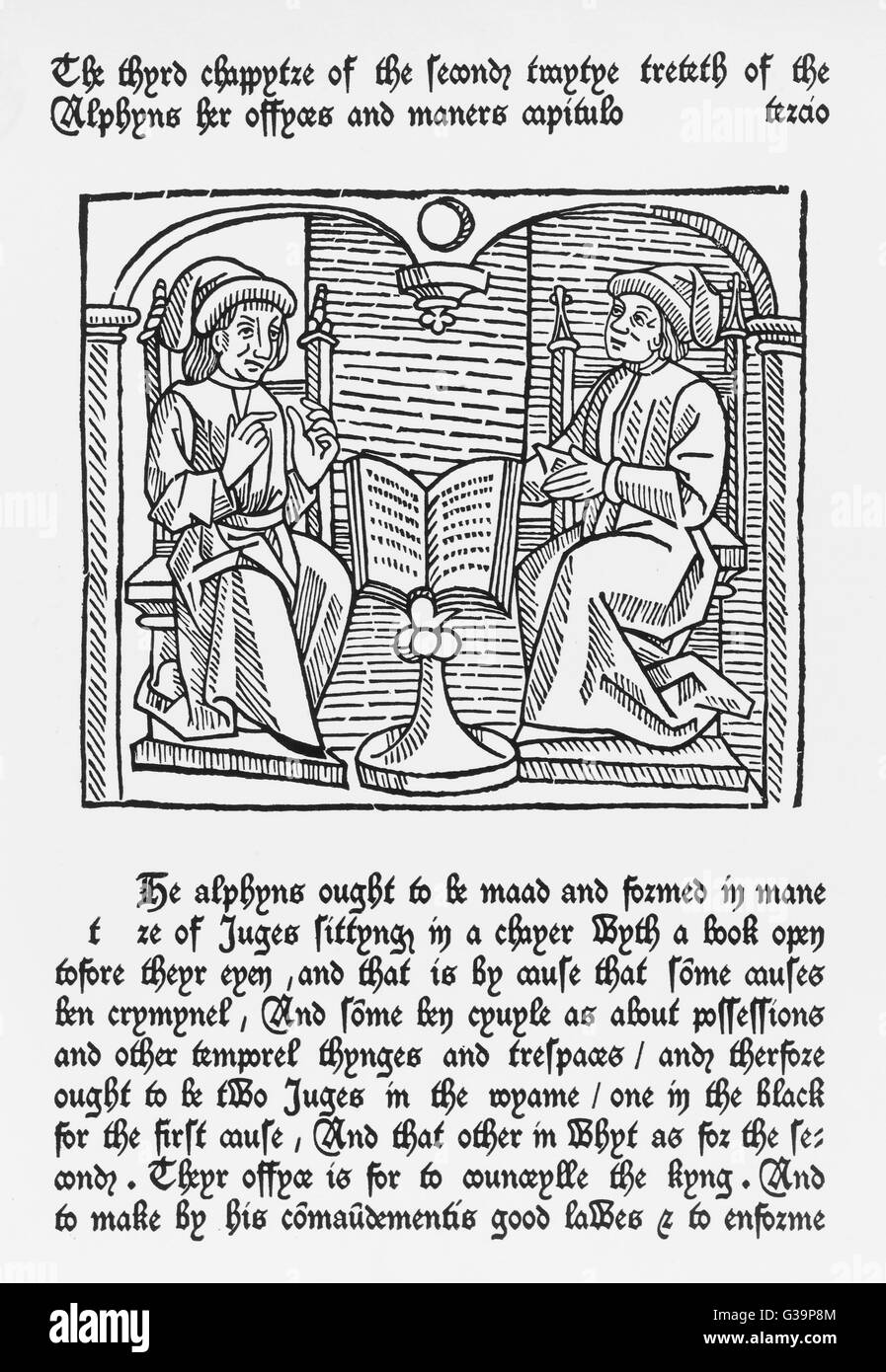 THE BISHOPS - represented as  Judges        Date: 1474 - Stock Image