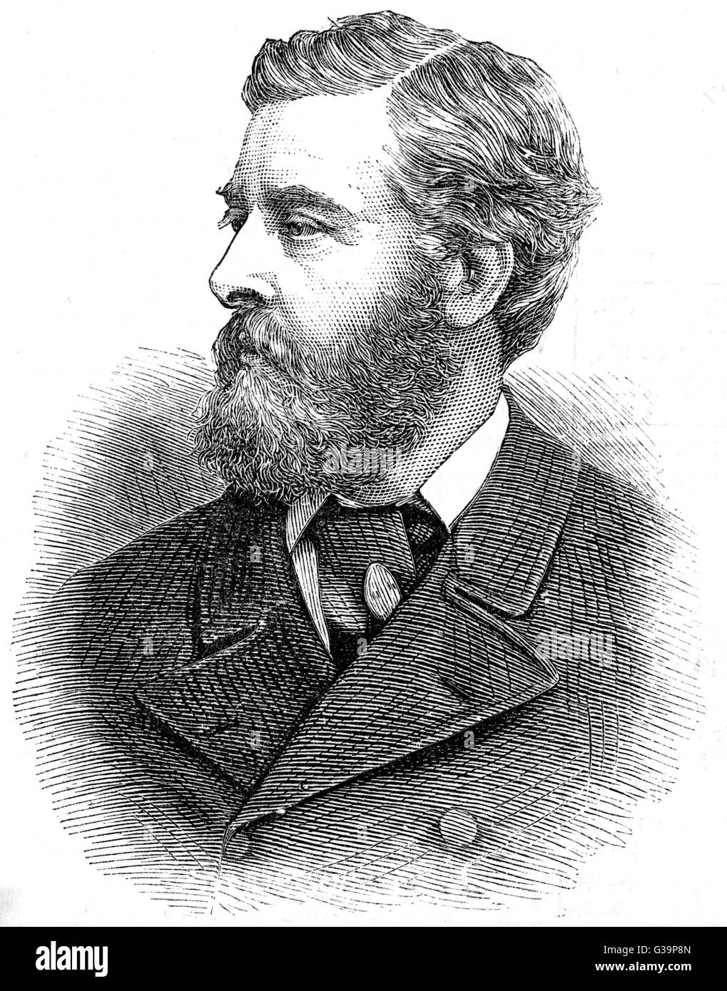 WILLIAM BLANCHARD JERROLD  Writer of plays and novels       Date: 1826 - 1884 - Stock Image