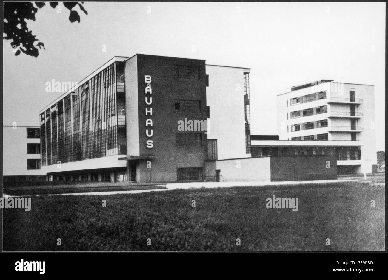 The Bauhaus building in  Dessau, manufacturing city in  eastern Germany. The building  was built in 1925 - 26 by Stock Photo