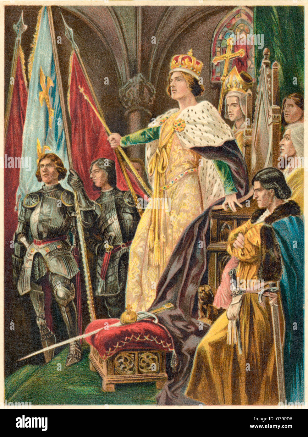 Edward IV is crowned at  Westminster         Date: 29th June 1461 - Stock Image