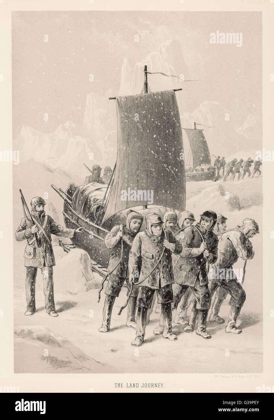 Thomas Simpson's land journey         Date: 1836-39 - Stock Image