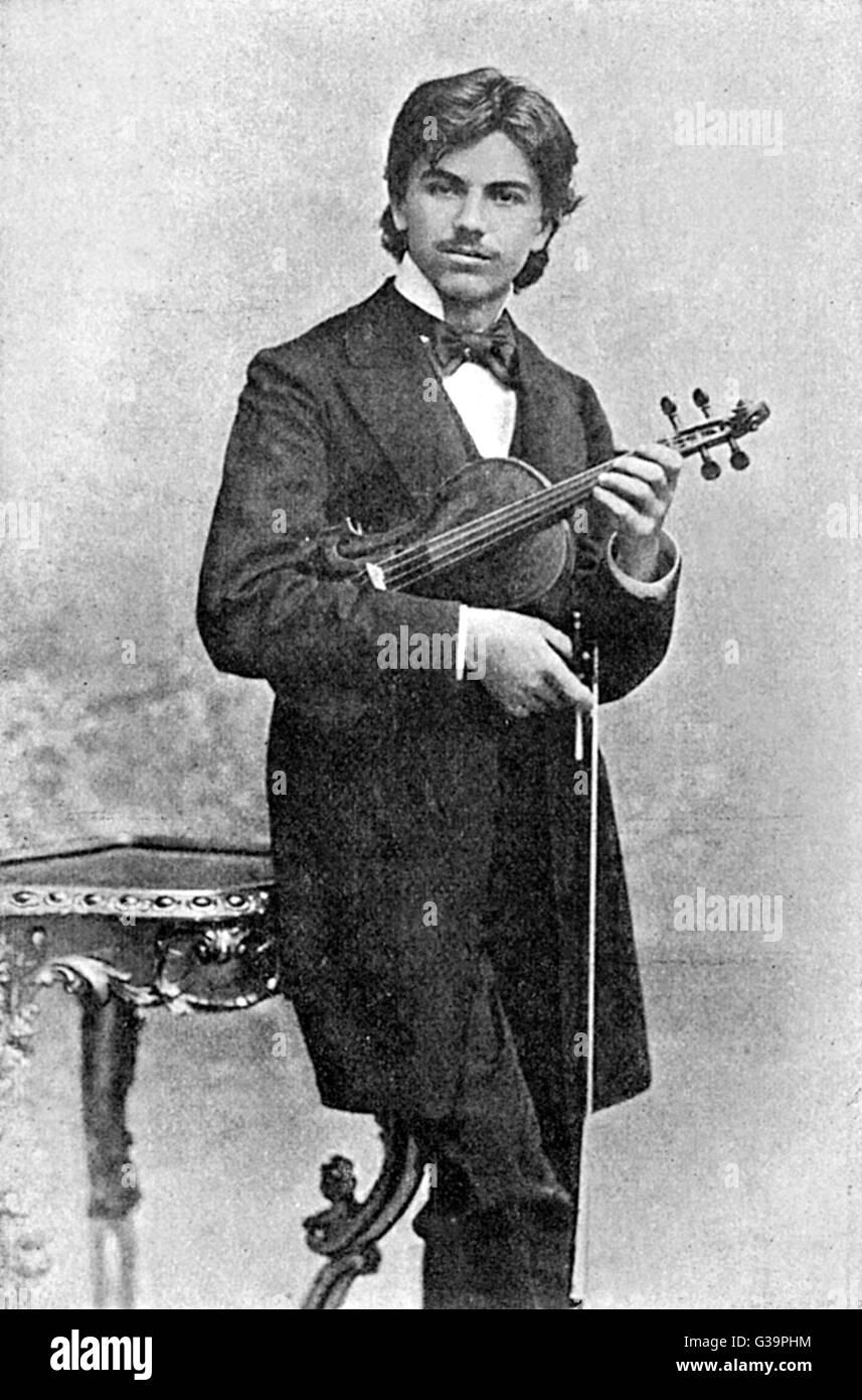 JAN KUBELIK  Czech-Hungarian violinist as a young man        Date: 1880 - 1940 Stock Photo