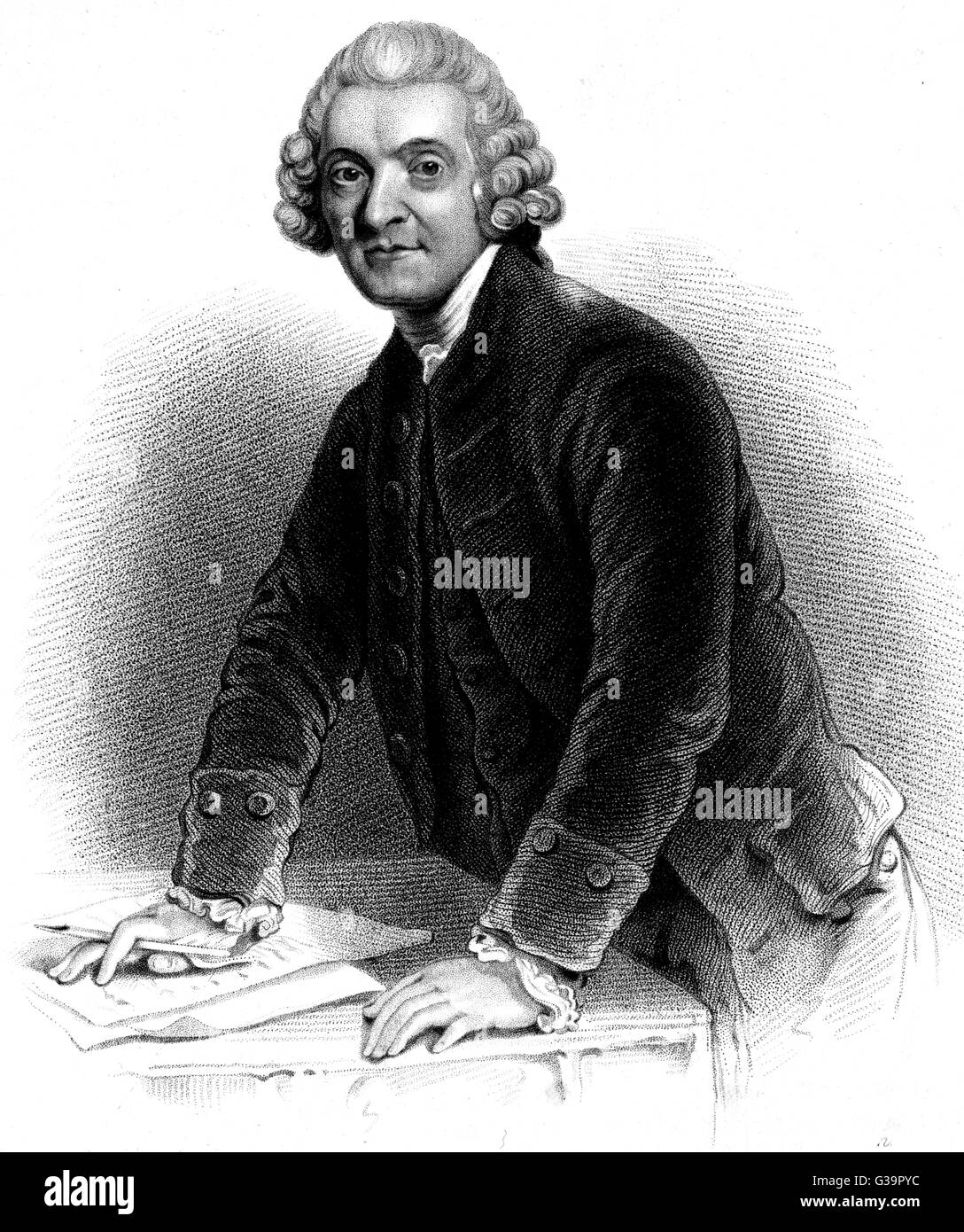 WILLIAM HUNTER  Anatomist and elder brother of  John Hunter.       Date: 1718 - 1783 - Stock Image