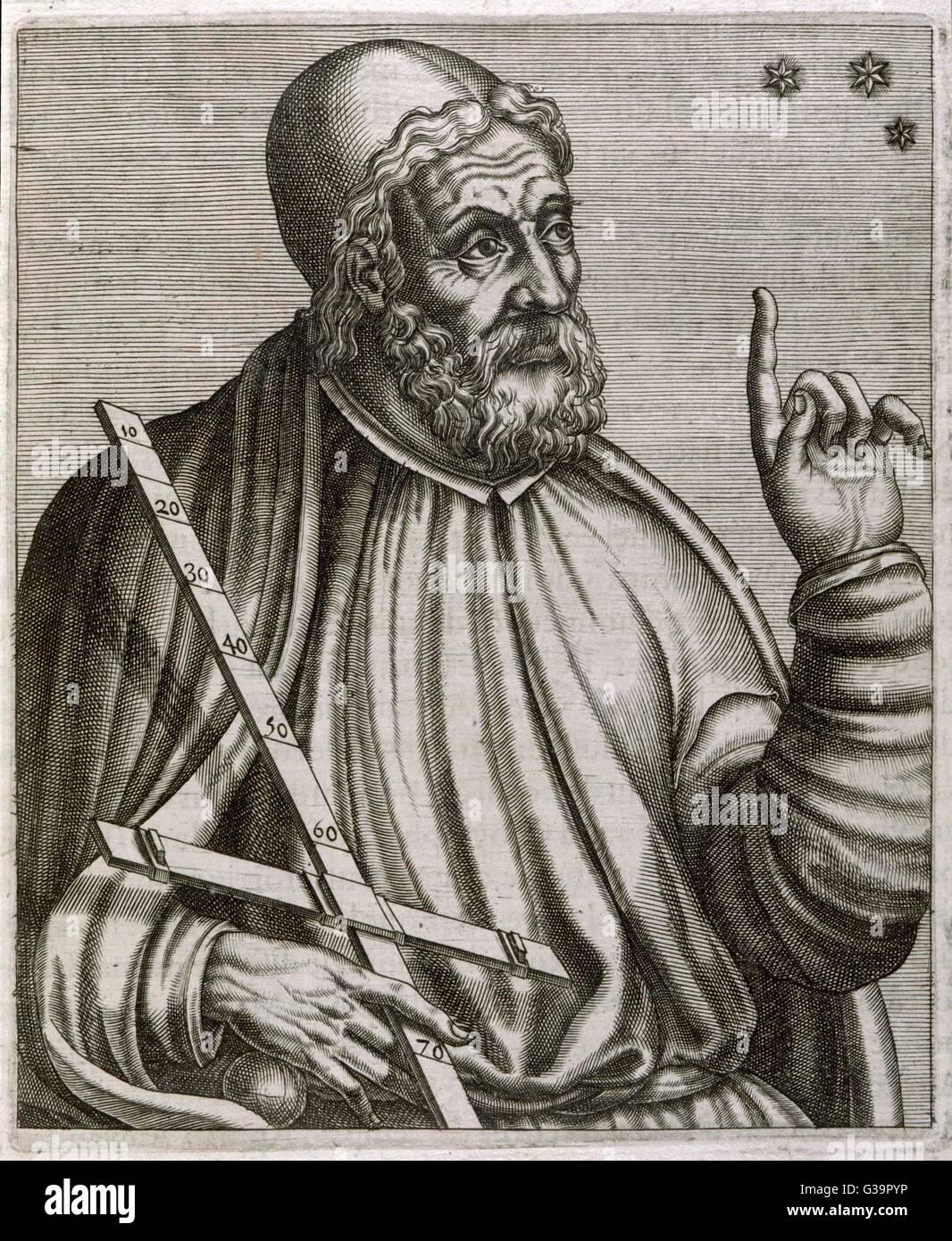 CLAUDIUS PTOLEMAIUS                                                                      Alexandrian astronomer, - Stock Image