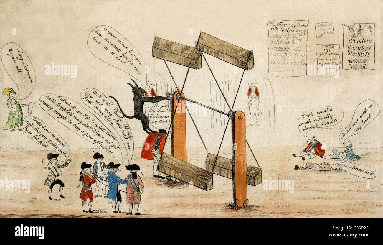 A Satire On Coalition Government Date 1783 Stock Photo 105321847