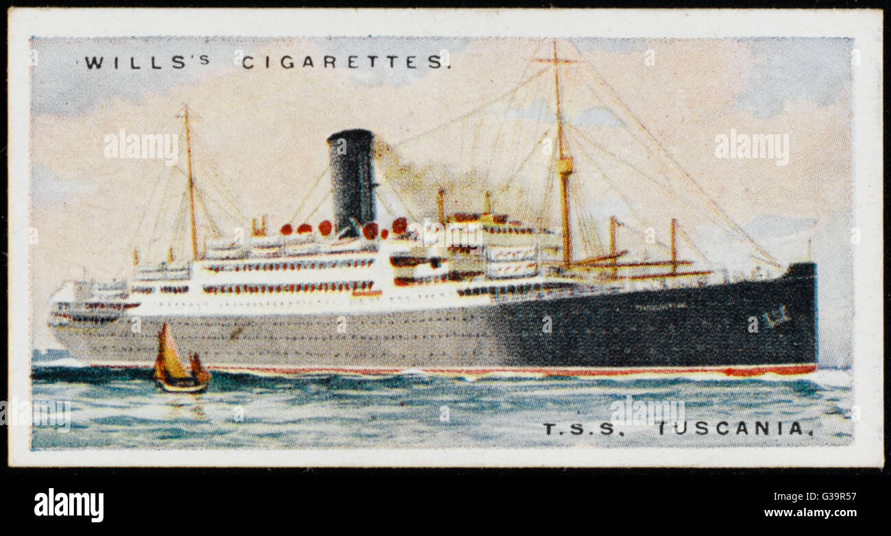 Anchor Line passenger ship  saling between Glasgow and New York        Date: 1924 - Stock Image